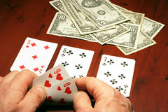 Player in poker Royalty Free Stock Images