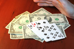Player in poker Stock Photography