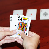 Player in poker Stock Images