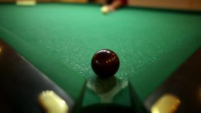 Player in the pool kick. Russian billiards.  stock video