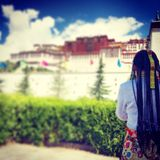 Player. The player in potala palace royalty free stock image