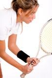 player racket side tennis view Στοκ εικόνα με δικαίωμα ελεύθερης χρήσης
