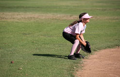 Player in ready position. Player anxiously waiting for the ball Stock Images