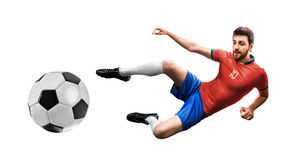 Player on red and blue uniform Stock Photography