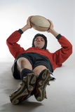 player rugby vertical Στοκ Φωτογραφία
