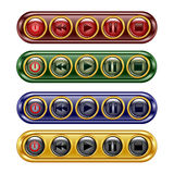 Player set buttons. Royalty Free Stock Photos