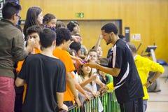 Player signing autographs Stock Photos