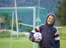 player soccer young 免版税图库摄影