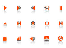 Player and sound icons Royalty Free Stock Photography
