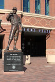 The Player. Statue stnds at the entrance to Coors Field, where the Colorado Rockies play major league baseball in Denver, Colorado Stock Image