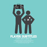 Player Substitution Graphic Symbol Royalty Free Stock Photography