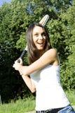 player tennis woman Στοκ εικόνες με δικαίωμα ελεύθερης χρήσης