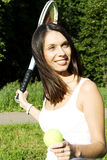 player tennis woman Στοκ φωτογραφία με δικαίωμα ελεύθερης χρήσης