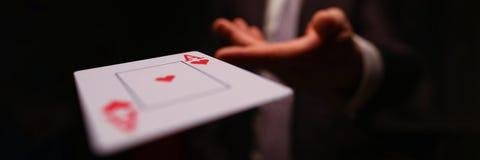 Free Player Throwing Playing Card Royalty Free Stock Image - 193544206