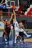 A player tries to reach the ball Stock Images