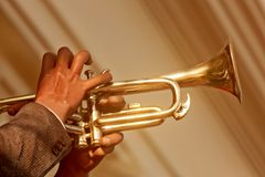 Player trumpet Royalty Free Stock Images