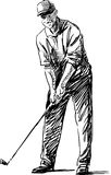 Player. Vector image of a golf player Royalty Free Stock Image