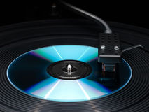 Player of vinyl disks and compact disk. Royalty Free Stock Photography