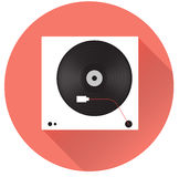 Player for vinyl record. Music flat vector illustration. Player for vinyl record. Flat vector illustration Royalty Free Stock Photos
