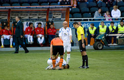 Player was injured during the game Stock Photo