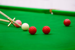Player was shooting ball on snooker table Royalty Free Stock Photos