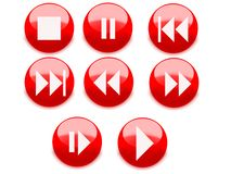 Player  web buttons Royalty Free Stock Photo
