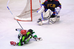 Players in action in the Ice Hockey final of the Copa del Rey Stock Photos