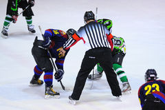 Players in action in the Ice Hockey final of the Copa del Rey Royalty Free Stock Images