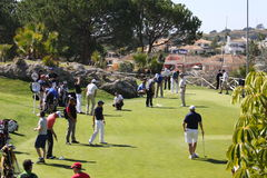 Players at Andalucia Golf Open, Marbella Royalty Free Stock Photos