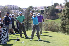 Players at Andalucia Golf Open, Marbella Royalty Free Stock Images