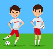 The players with balls. The cartoon style. Vector illustration vector illustration