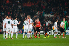 Players Bayer Leverkusen and Shakhtar Donetsk Stock Photos