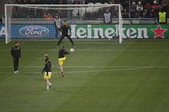 Players of Borussia warming up Royalty Free Stock Photos