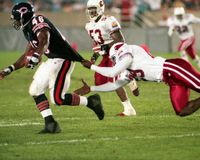 Preseason Football. Players from the Chicago Bears and Arizona Cardinals play during the exhibition season.  Neither player landed on their teams roster for the Stock Photography
