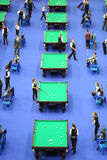 Players compete in pool Royalty Free Stock Image