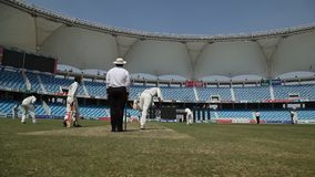 Players in the Cricket stadium