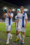 Players of FC Dnipro Royalty Free Stock Photography