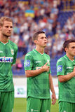 Players of FC Karpaty Royalty Free Stock Photos