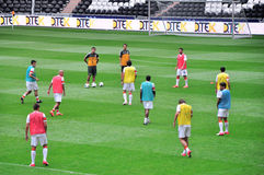 Players of FC Shakhtar Donetsk in the field Royalty Free Stock Image