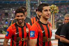 Players of FC Shakhtar Donetsk Royalty Free Stock Photos