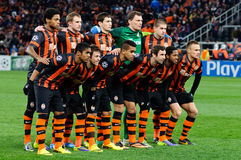 Players of FC Shakhtar Donetsk Royalty Free Stock Image