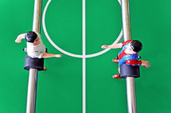 Players on the football board Royalty Free Stock Images