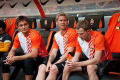 Players of football club Shakhtar Royalty Free Stock Photos