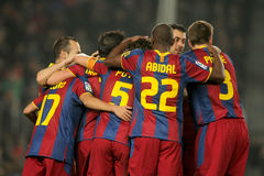 Players group of FC Barcelona Royalty Free Stock Photo