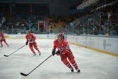 Players of hockey club Avtomobiliist Yekaterinburg Tobias Viklund and Sami Lepistö Royalty Free Stock Image