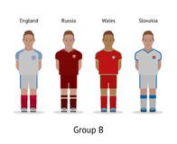 Players kit. Football championship in France 2016. Group B - England, Russia, Wales, Slovakia Royalty Free Stock Photo