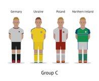 Players kit. Football championship in France 2016. Group C - Germany, Ukraine, Poland, Northern Ireland Royalty Free Stock Photos