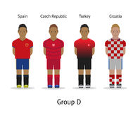 Players kit. Football championship in France 2016. Group D - Spain, Czech Republic, Turkey, Croatia Royalty Free Stock Photos
