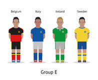 Players kit. Football championship in France 2016. Group E - Belgium, Italy, Ireland, Sweden Royalty Free Stock Image
