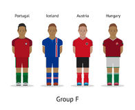 Players kit. Football championship in France 2016. Group F - Portugal, Iceland, Austria, Hungary Stock Image